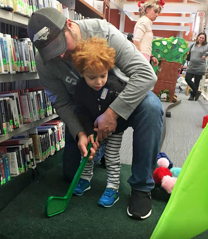 Splash Car Wash sponsors hole at Friends of the Ferguson Library Mini Golf